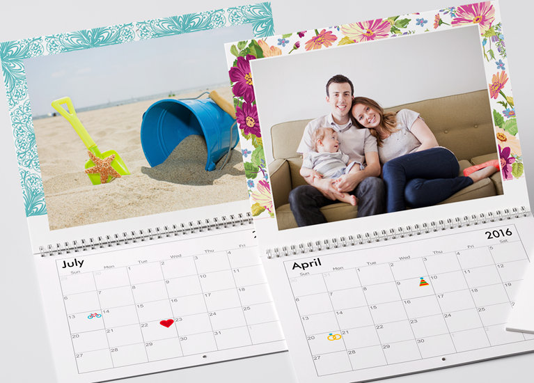 Calendar Design With Pictures : Personalised photo wall calendars · vistaprint