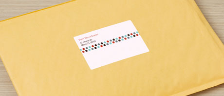 Custom mailing & postage labels for packages