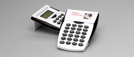 Custom calculators with retractable lids