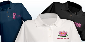 Embroidered Ladies' Polo Shirts
