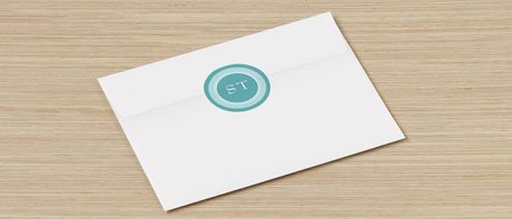 Custom envelope seal stickers