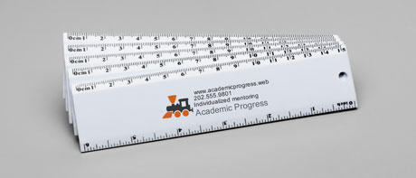 Custom plastic rulers