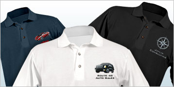 Embroidered Mens' Polo Shirts
