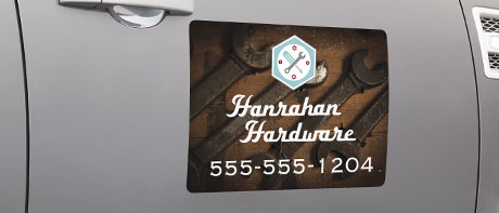 Custom magnets for car doors, calendars, photos, & business cards