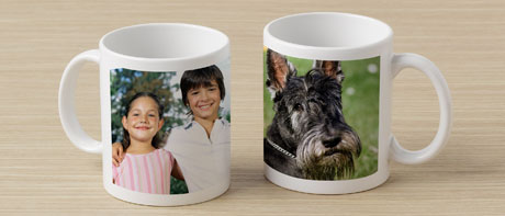 Custom printed photo mugs
