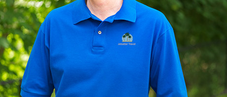 Custom embroidered men's polo shirts
