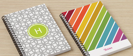 Custom lined or blank notebooks