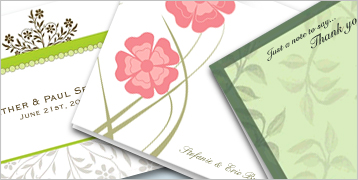 Personal Note Cards — Folded