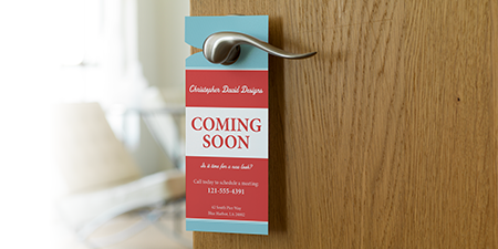 door name tag template - custom door hangers vistaprint