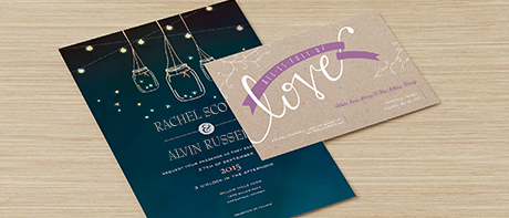 custom invitations: make your own invitations online @vistaprint, Wedding invitations