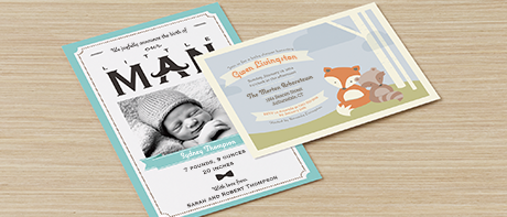 custom invitations: make your own invitations online @vistaprint, Baby shower invitations