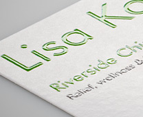 Brilliant Finish Business Cards