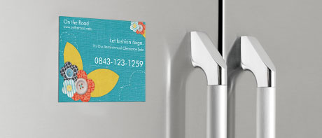 Magnetic postcards for fridge