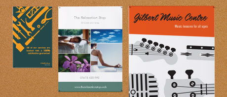 Posters for business or events