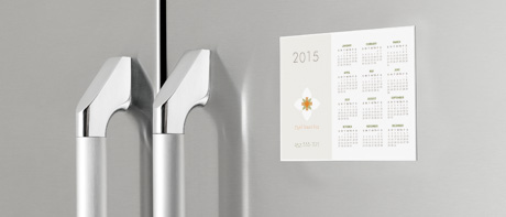 Durable vinyl calendar magnets