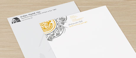 Company headed paper & letterheads