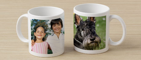 Printed photo mugs