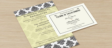 Business invitation cards