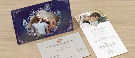 Flat & folded wedding invitations