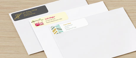 Personalised return address labels