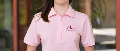 Embroidered women's polo shirts