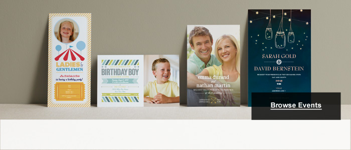 Blue Baby Announcements & Black Graduation Invitations