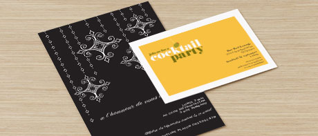 Cartes et cartons d'invitation professionnels