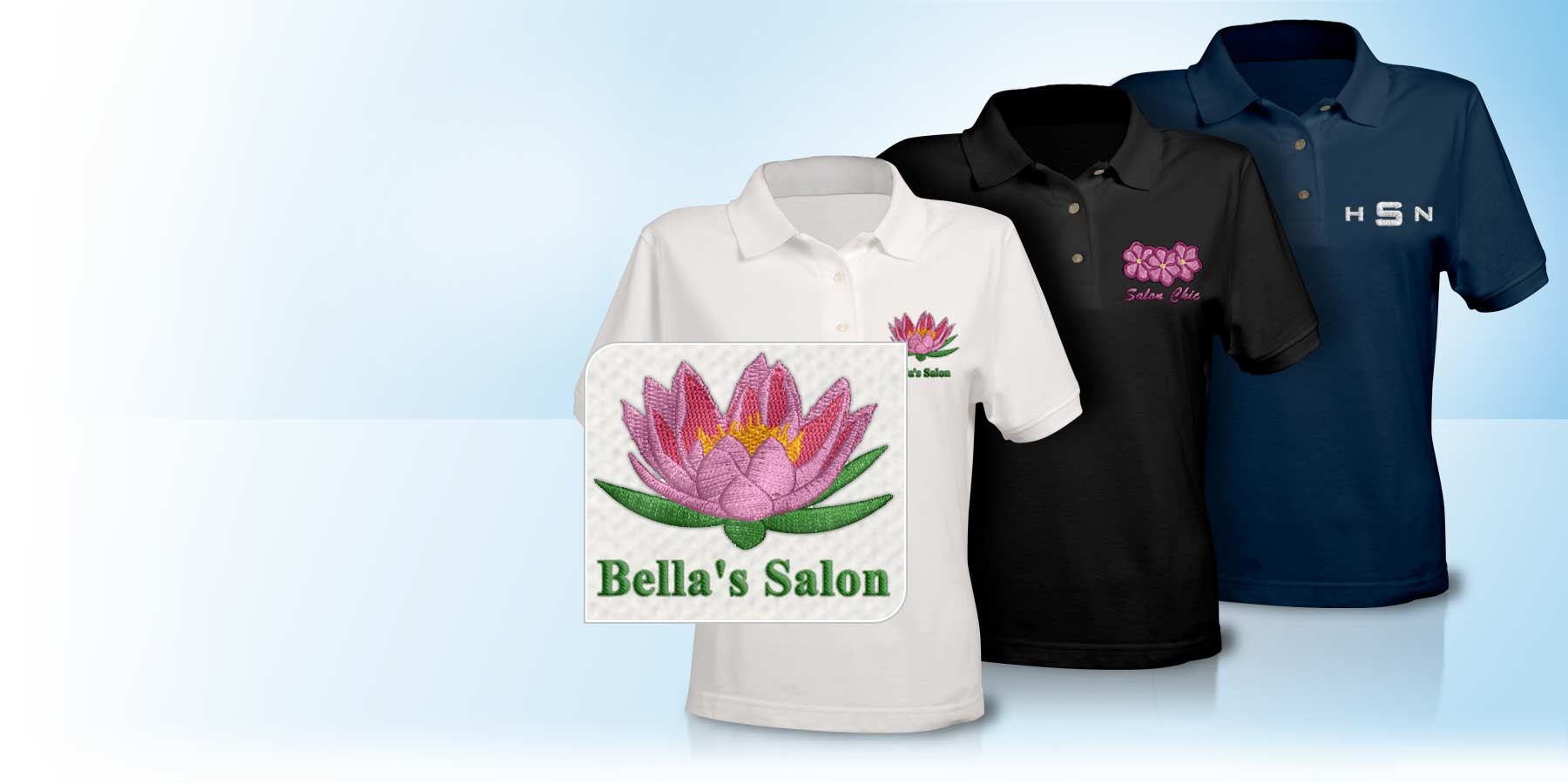 Embroidered polo shirts custom for Personalised embroidered polo shirts